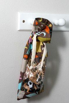 Windowpane DIY Drawstring Bag