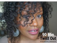 90 Minute Flat Twist Out + Volumizing Tips for Fine Natural Hair