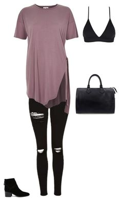 """""""Untitled #1960"""" by laylahnisoutfits ❤ liked on Polyvore featuring ASOS, Topshop, River Island and Louis Vuitton"""