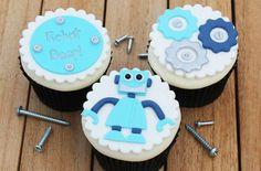 Robot cupcakes bright