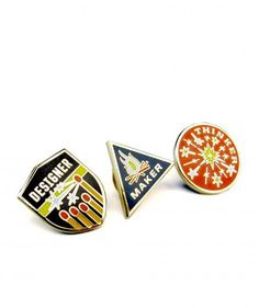 For the gal who's outgrown her scouting days, but still desires a reward for those milestone moments, these vintage-looking pins are sure to satisfy.