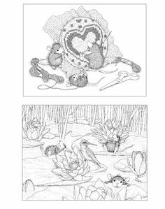 House-Mouse Designs® A House-Mouse® Colouring Book - UK Edition - Volume 2 Colouring Pics, Adult Coloring Pages, Coloring Books, House Mouse Stamps, Mouse Color, Prim Christmas, Animals Images, Digi Stamps, Sympathy Cards
