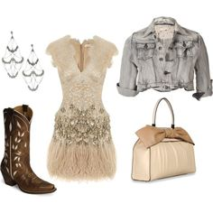 shabby shic, created by jlbeck on Polyvore...the sparkles might be a bit much...but cute!