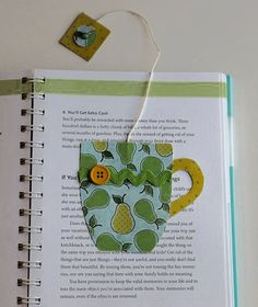 paper crafted teacup bookmark in yellow and green by TheGreenDoorCottage Creative Bookmarks, Diy Bookmarks, Corner Bookmarks, Homemade Bookmarks, Book Crafts, Felt Crafts, Paper Crafts, Diy Marque Page, Sewing Projects