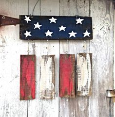 4th of July Wreath Rustic Home Decor Garden Flag by PaePaesPlace