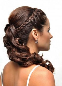 ponytail hairstyles, wedding ponytail, bridal ponytail, ponytail hairstyles for weddings Braided Ponytail Hairstyles, Bride Hairstyles, Cute Hairstyles, Updo Curly, Hairstyle Images, Ponytail Updo, Hairstyle Braid, Elegant Hairstyles, Wedding Ponytail