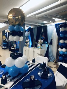 66 Ideas Baby Boy Party Centerpieces Blue For 2019 Baby Birthday Decorations, Baby Boy 1st Birthday Party, Baby Shower Decorations For Boys, Baby Party, Baby Shower Parties, Mickey First Birthday, Boss Birthday, Birthday Ideas, Boss Baby