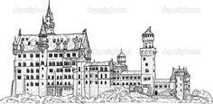 Картинки по запросу замок нойшванштайн план