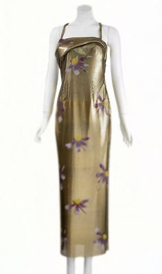 Gianni Versace Couture early 80's Hand Painted Flowers