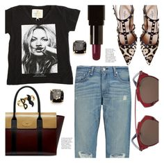 """""""Edgy Casual Style"""" by stacey-lynne ❤ liked on Polyvore featuring ElevenParis, Valentino, rag & bone, Christian Dior, Mulberry, Illamasqua and Kate Spade"""