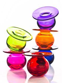 New spring 2013 collection. Boblen Candy by Finn Schjøll for Magnor Glassverk Glass Jug, Glass Bottles, Glass Cakes, Drink Dispenser, Cake Cover, Glass Marbles, Champagne Glasses, Glass Collection, Glass Ornaments