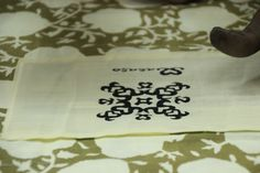 Tragetaschen in Blockprint aus den Textilresten der Produktion...alles im Sinne der Nachhaltigkeit!