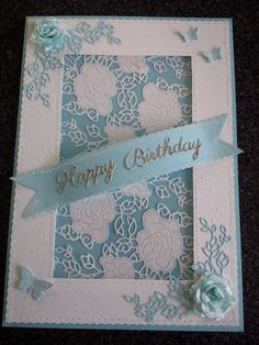 Angela Long www.tatteredlace.co.uk Tattered Lace Cards, Embossed Cards, Die Cut Cards, Create And Craft, Handmade Cards, Your Cards, Cardmaking, Card Ideas, Projects To Try