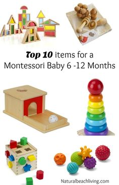 Top 10 Montessori Baby Toys for 6 12 months Great Montessori Gift Guide for babies Baby Montessori Montessori home Toddler Toys Montessori Toddler Montessori Playroom, Montessori Baby Toys, Montessori Activities, Infant Activities, Baby Playroom, Toddler Toys, Kids Toys, Toys For Babies, Toddler Girl