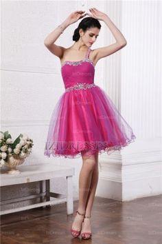 Ball Gown One Shoulder Organza Evening Dresses - IZIDRESSES.COM at IZIDRESSES.com