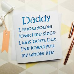 Daddy birthday card, dad birthday, daddy card, fathers day card, card from son, card from daughter, card from baby, husband birthday, daddy by AprilDaysDesigns on Etsy