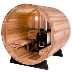 4-Person Barrel Sauna