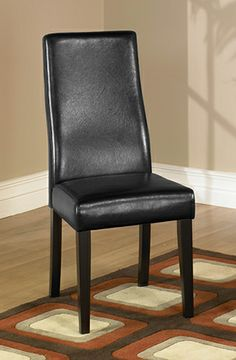 Armen Living LC341SIESBL   Black Leather Side Chair (2 Pack) | Sale Price: