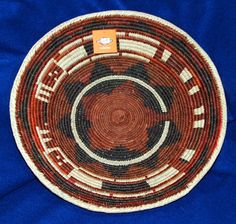 """A beautiful finely handwoven basket with lots of detail. 15x3.5"""" Great for party snacks or fruit, but SO pretty, you can hang it on your wall as a decorative accent piece! $24.95 #basket #handwoven #southwestern #homedecor"""