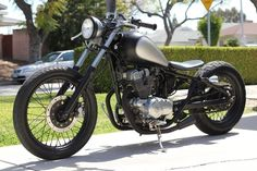 Amazing Honda Rebel 250 bobber I want to take my bike in this direction.