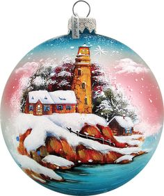 Light House Ornament; Handcrafted Old World Christmas Limited Edition Gallery Collection for the Tree. (73131)