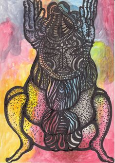 Original Garden Drawing by Color Calor Frog Drawing, Garden Drawing, Pen And Watercolor, Ballpoint Pen, Buy Art, Paper Art, Saatchi Art, Original Art, Illustration Art