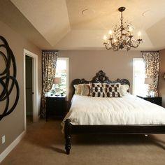 Master Bedroom | headboard | chandelier