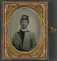 [Private Archibald Magill Smith of Co. F, 1st Virginia Cavalry Regiment, and Co. D, 6th Virginia Cavalry Regiment, in uniform]  [between 1861 and 1865]  1 photograph : quarter-plate ambrotype, hand-colored ; 9.5 x 11.5 cm (case)  Notes:  Title devised by Library staff. Case: Leather; geometric design. Use digital images. Original served only by appointment because material requires special handling. For more information see: (www.loc.gov/rr/print/info/617_apptonly.html) Photograph shows…