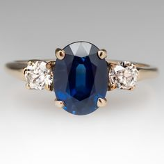 Shop blue sapphire engagement rings from antique to modern and blue-green to Montana. Sapphire rings are durable and suitable for everyday wear. Sterling Silver Jewelry, Gold Jewelry, Jewelery, Ring Verlobung, Gold Ring, Diamond Engagement Rings, Solitaire Engagement, Beautiful Rings, Wedding Rings