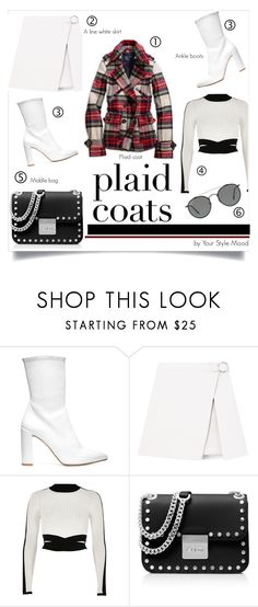 """""""Plaid coat"""" by yourstylemood ❤ liked on Polyvore featuring Stuart Weitzman, River Island, American Eagle Outfitters, MICHAEL Michael Kors, Ray-Ban, polyvoreeditorial, polyvorecontest, plaidcoats, plaidcoat and Spring2017"""