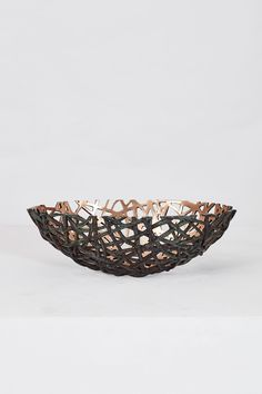 Woven Bronze Bowl II Bronze 52 x 32 x 16.5 cm Edition of 10 University Of Cape Town, Hat Stands, Bronze Age, Stoneware Clay, Bronze Sculpture, Decorative Bowls, Candle Holders, Southern, Objects