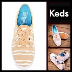 Keds Sneakers Striped Print Shoes NEW WITH TAGS RETAIL PRICE: $58  Keds Sneakers Striped Print Shoes    * Round toe & lace up vamp  * Flat sneaker sole w/a padded footbed  * Contrast trim & topstitching details  * Allover striped animal leopard style print  * Non-marking textured sole & logo detail  * Tagged size 8.5M   Material: Textile upper & Manmade sole Color: Sand brown & white striped Combo Item:   No Trades ✅ Offers Considered*✅ *Please use the blue 'offer' button to submit an offer…