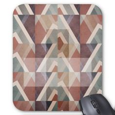 Textured Geometric Abstract Mouse Pad  $11.90  by flyingdiscs  - cyo customize personalize diy idea