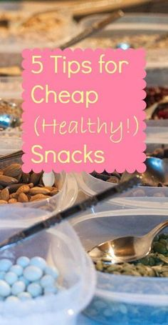 We've got 5 cheap and healthy snack ideas your kiddos will love!