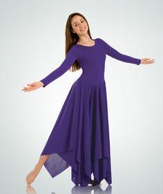 554 Handkerchief Hem Christian Dance Dress $52.50