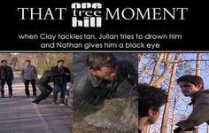 Clay Evans. Robert Buckley. One Tree Hill. OTH. Nathan Scott. James Lafferty. Julian Baker. Austin Nichols. That One Tree Hill Moment.