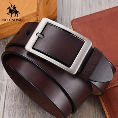 e5a9bb1932d56 ONEPAUL Men belt High Quality cow genuine leather luxury strap male belts  for men new fashion classice vintage pin buckle