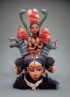 John Goba, Headdress, Sierra Leone, Collection of Mr. Jeremiah Cole / Photo from Fowler Museum at UCLA and National Museum of African Art Art Haus, African Mythology, Yoruba People, Dragon Mask, Contemporary African Art, Religion, Art Africain, Africa Art, African Masks