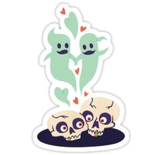My Boo by Elizabeth Levesque  For your spooky valentine! Also perfect for Halloween. Artwork by Elizabeth Levesque of http://blog.lizzelizzel. Stickers and more for sale on Redbubble.com