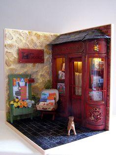 "Handmade miniature Scene 1:12 scale ""Alice's Books"" Pequeñeces by MaraGVerdugo"
