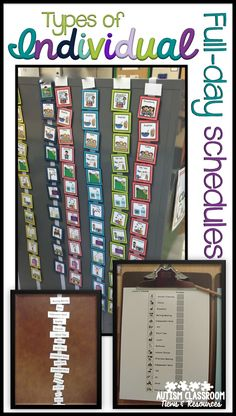 Visual schedule examples including picture schedules, written schedules, and object schedules of all types.  Great for students with autism.