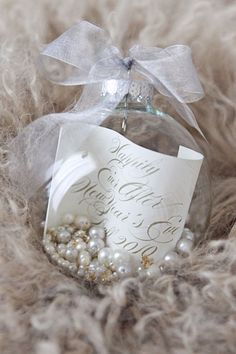 Ornament favors. Photo by Thisbe Grace Photography www.wedsociety.com #wedding #favors