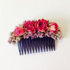 Your place to buy and sell all things handmade British Flowers, Spray Roses, Lilac, Pink, Brides And Bridesmaids, Hair Comb, Dried Flowers, Special Day, Floral Wreath