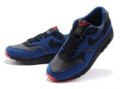 a15311b20ca Nike Air Max 1 Men Black Blue Red QASE2881 - Click Image to Close