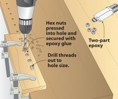 Tip of the day from Wood Magazine - homemade Kreg shelf pin jig