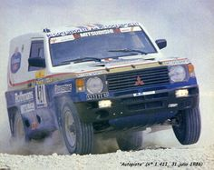 René Metge, Mitsubishi Pajero, Baja España Aragón (1986) Mitsubishi Pajero, Mk1, Outlander 2017, Rallye Paris Dakar, Rallye Raid, Range Rover Classic, Off Road Racing, Japanese Cars, Rally Car