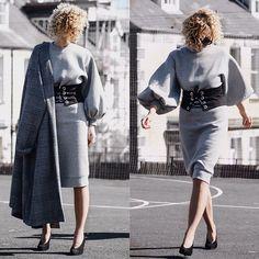 Renia - Zara Corset, Dorothy Perkins Coat, New Look Heels - Statement Sleeves and Corset