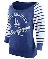 Nike Women's Los Angeles Dodgers Coop Gym Vintage Crew Sweatshirt
