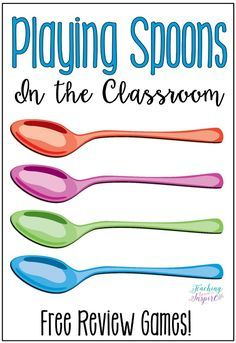English Language Arts If you have every played Spoons, then you know how fun and engaging that game is. Have you ever thought about playing Spoons in . Teaching Strategies, Teaching Tips, Teaching Math, Vocabulary Strategies, Vocabulary Games For Kids, Teaching Secondary, School Classroom, School Fun, Fun Classroom Games