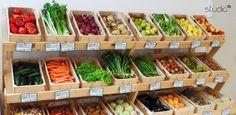 "Interior design by Giovanni Tomasini - Studio7B / Health Food Store ""Armònia"" - Brescia (ITALY) - 2014. #pallet #design #eco #wood #natural #interior #design #architecture #pallets #wall #oldwood #newlife #recycled #health #store #cafè #bio #locale #negozio #furniture #arredo #madeinitaly #style #Studio7B #biologico #greendesign #shelf #desk #table #fruiterer #greengrocer"